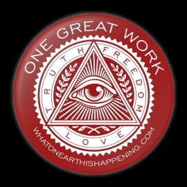 One Great Work Button – Red